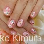 【今月のネイル】2011年11月 ピンク小花柄♪