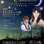 【終了】【告知】星空コンサート11/17(土)&お仕事復帰のお知らせ